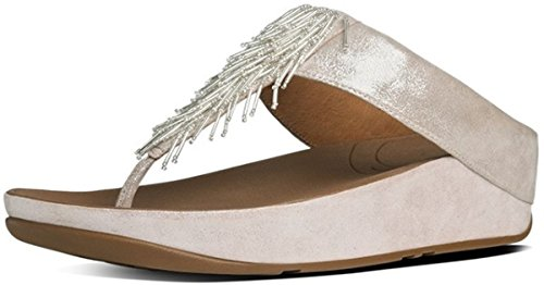 Fitflop Women Cha Cha Silver Flip Flop Size 4 B(M) US