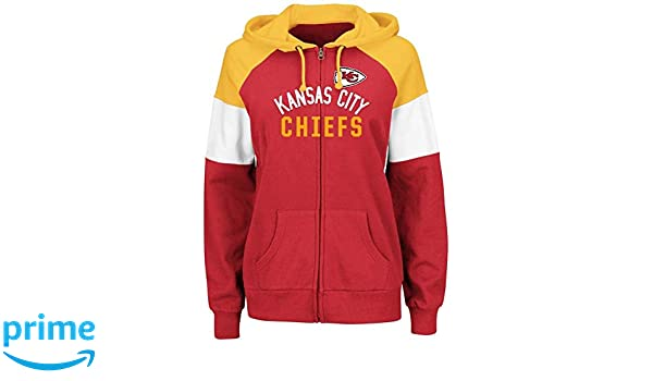 1dd899ba81a Amazon.com   Majestic Kansas City Chiefs Women s Hot Route Red Zip Up  Hooded Sweatshirt   Sports   Outdoors