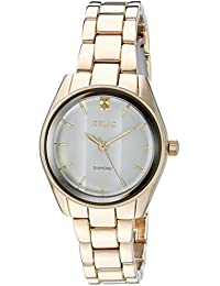 Women's 'Zoey' Quartz Stainless Steel and Alloy Casual Watch, Color:Gold-Toned (Model: ZR34418)