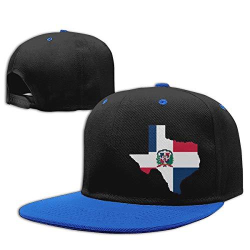 KID75CAP Toddler Boys Baseball Cap Dominican Republic Flag Texas Map Adjustable Hip Hop Hat Blue