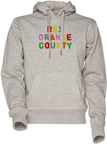 Felpa Vendax Donna Unisex Women's Orange Sweatshirt Rex Uomo Grey Con Grigio Cappuccio Hoodie County Men's xqqTZYp