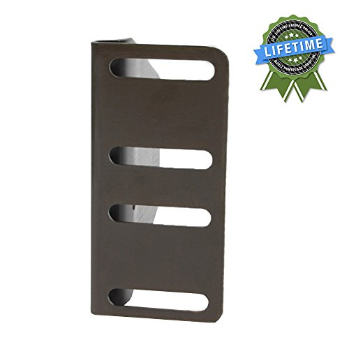 BedClaw Headboard / Footboard Attachment Brackets with Hardware, Set of 2 Clear Set Headboard
