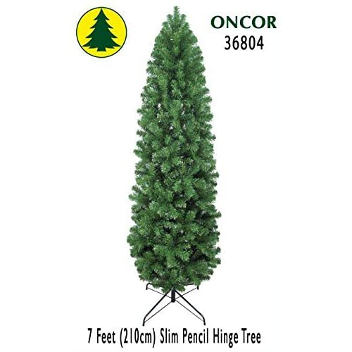 New 7ft Eco-Friendly Oncor Slim Pencil Pine Christmas Tree for sale