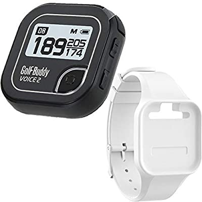 BUNDLE: 2016 Golf Buddy Voice 2 Golfbuddy Voice2 Easy-To-Use Talking GPS + Golf Buddy Wristband (White)