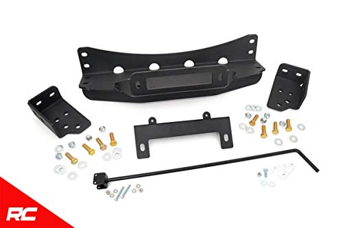 Rough Country Hidden Bumper Winch Mounting Kit Compatible w/ 2007-2013 Chevy Silverado GMC Sierra 1500 1080 1500 Radiator Mount Bracket