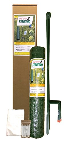 "TEMPORARY FENCING KIT – 50' x 36"" – No tools, Quick and Easy to Install, No Slipping or Sagging, Reusable."