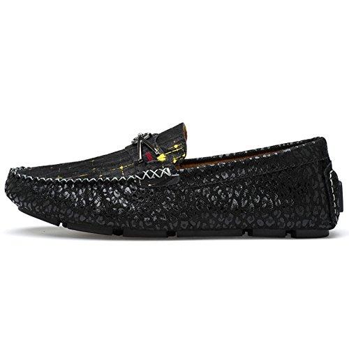 Gamuza Casual Mocassins Conducción Negro Yaer Zapatos Hombres Mocasines En Mejora Los De txpqg0wO