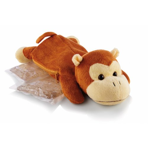 (Sunbeam 1925-715 Comfort Friends Hot/Cold Packs, with plush Monkey)
