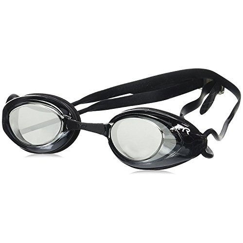 TYR Black Hawk Racing Mirrored Goggles, Silver Metal Silver/Black, One - Goggles Shop Swim