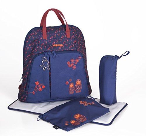 okiedog TREK 37013 bolsa de pañales Mochila incl. accesorios URBAN, jeans MATRUSHKA azul