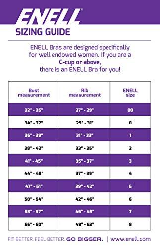 Sujetador de alto impacto de la figura completa de control máximo de Enell, negro, 5