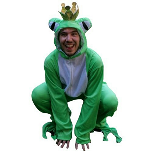 Halloween Costume Creative Ideas Adults (Fantasy World Frog King Costume Halloween f. Men and Women, Size: M/ 08-10, Sy12)