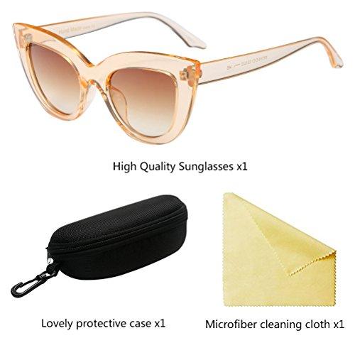 Tea de Gafas Eyeglasses Eyewear Retro Sol Designer Eye Protection Mujeres UV Zhhlaixing Cat 7wTEOqvv