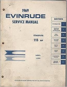 1969 Evinrude Outboard Motor Starflite 115 Hp Service Manual