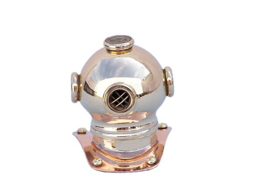 - Hampton Nautical  Brass-Copper Diving Helmet Paperweight, 3