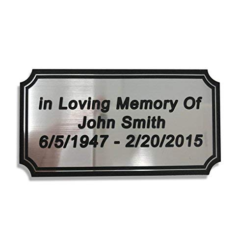 SmartChoice Customized Engraved Plaque Silver Name Plate