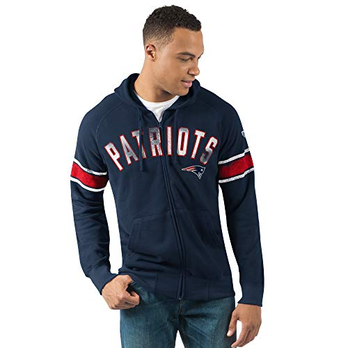 G-III Sports New England Patriots Men's Arena Full Zip Hooded Sweatshirt Large from G-III Sports