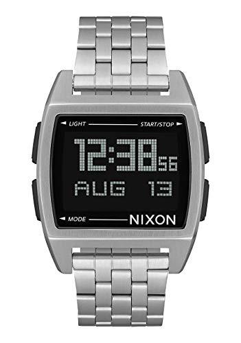 Nixon Men's Base Digital Watch Silver Black 38mm