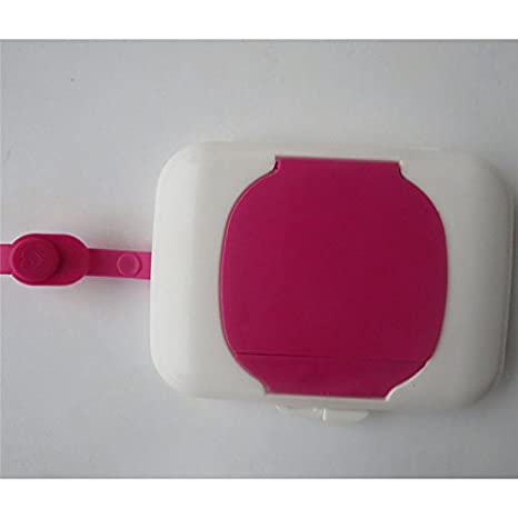 Nueva caja de plástico caja para toallitas húmedas para toallitas húmedas para carritos de bebé viaje portátil transparente caja dispensador ej887323: ...