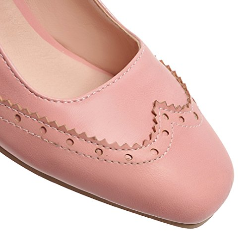 7251f65a5ce76 YE Damen Mary Janes Brogue Pumps Blockabsatz High Heels mit Riemchen ...