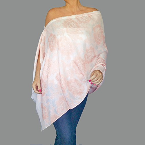 Beige Flower Shawl Summer Clothing Off The Shoulder Top By ZiiCi