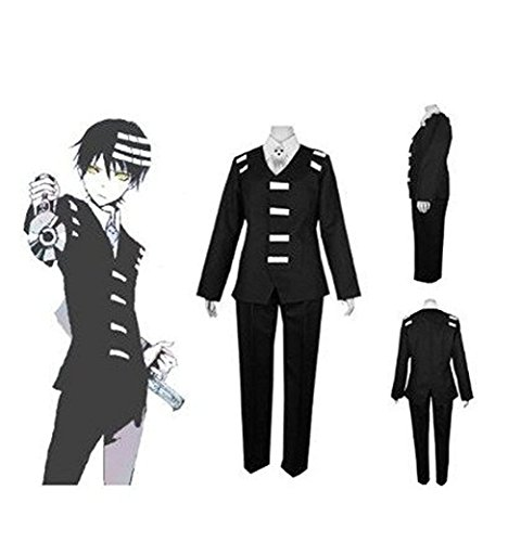 TISEA Halloween and Party Use Black Suit Uniform Cosplay Costume (L, Female) by TISEA (Image #3)