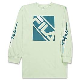 Fila Men's Big and Tall Long Sleeve T Shirt Big & Tall Crewneck Men Shirt
