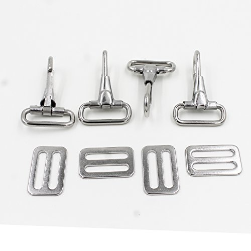 "YYST 304 Stainless Steel Snaps Hooks and Sliders for 1"" Straps, Bimini Top Boat top"