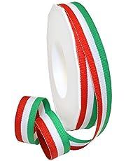 Morex Ribbon Polyester Grosgrain Striped Decorative Ribbon, 20 Yard