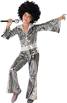 Atosa Disfraz de Disco Plateado para niña 7 a 9 años: Amazon.es ...