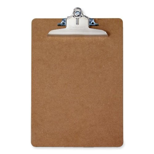 Saunders Recycled Hardboard Clipboard with High Capacity Clip, Memo Size, 5.75 inch x 9.5 inch, 1 Clipboard (05610)