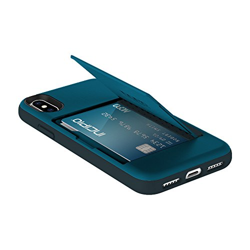 Price comparison product image Incipio Stowaway iPhone X Case with Credit Card Slot Holder and Integrated Stand for iPhone X - Navy