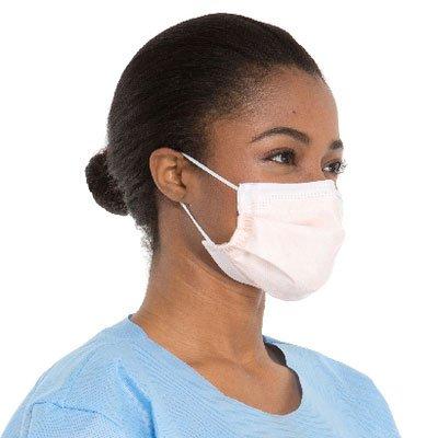 FLUIDSHIELD Level 3 Fog-Free Procedure Mask, High Fluid Protection, ASTM F2100-11, Orange, 47107 (Box of 40)