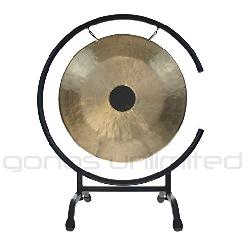 16'' Chocolate Drop Gong on High C Gong Stand by Gongs Unlimited
