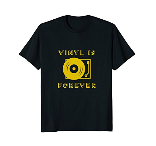 Mens Vinyl is Forever T Shirt | Vinyl Record Collectors TShirt 3XL Black (Collector Record)