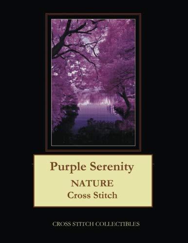 Purple Serenity: Nature Cross Stitch Pattern