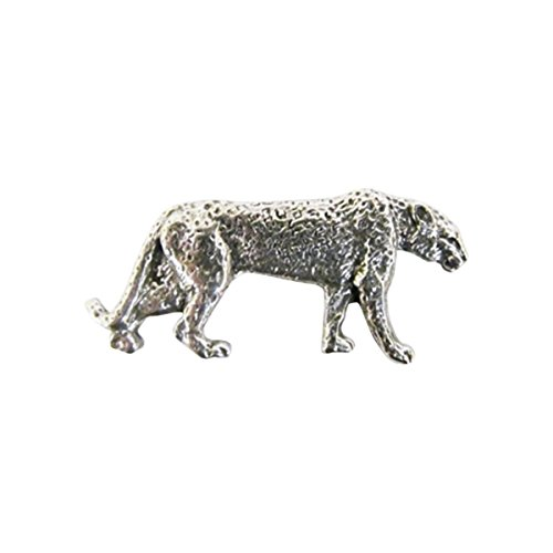 Leopard ~ Spotted Full Body ~ Lapel Pin/Brooch ~ CWG-M112F ~ Pewter