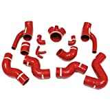 Autobahn88 Intercooler Silicone Hose Kit for 1997-2002 Audi S4 B5 A6 B5 RS4 2.7T Bi-turbo Quattro (Red -without Clamp Set)