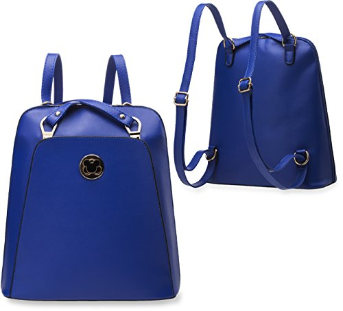 Unbekannt 1332, Borsa a zainetto donna blu blau Medio