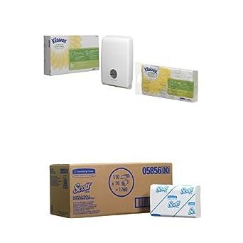 Kleenex Airflex Slimfold Dispensador de toalla de mano dispensador de Starter Pack Y Recambio: Amazon.es: Industria, empresas y ciencia