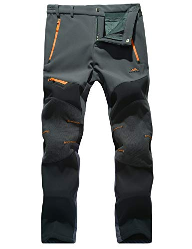 Snowboarding Pants for Men Windproof Pants Men Fleece-Lined Pants Waterproof Pants Hiking Climbing Pants Outdoor Pants - Snowboarding Field Pant