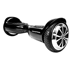 SWAGTRON T5 Entry Level Hoverboard for Kids and Young Adults; Optional Learning Mode (Black)