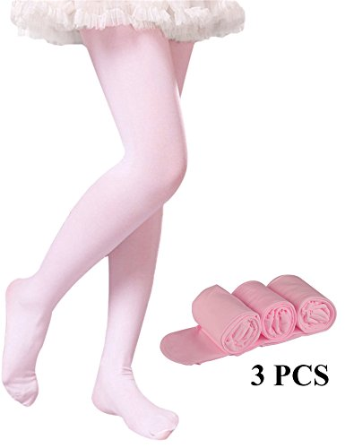 (Tights for Girls Toddler Ballet Dance Leggings Pants Girls Microfiber Stockings Pantyhose (Pink-3 Tights, S 1-3 Years Height: 80-95 cm/31.5-37.5 inch))