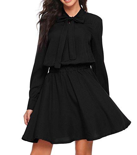 Neck Chiffon Women Dresses - 5