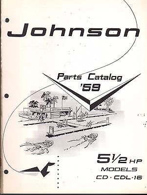 D MOTOR 5 1/2 HP PARTS CATALOG MANUAL P/N 377805 (168) (Hp Parts Catalog Manual)