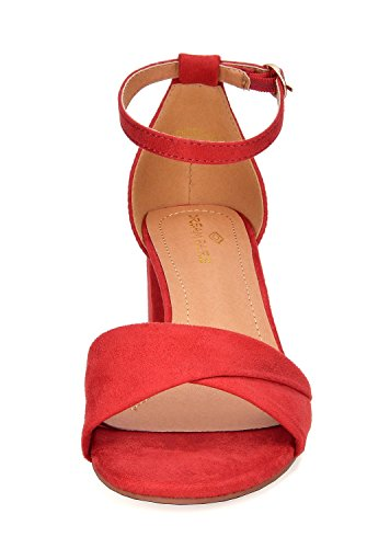 Dream Duchess Women's red Heel Pairs Sandals 03 faqCFTf
