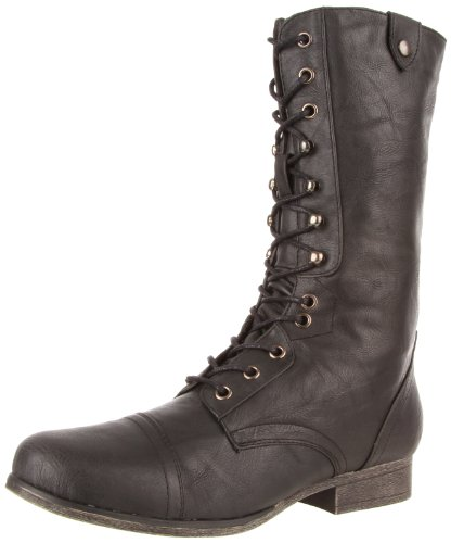 Madden Girl Women's Geirard Mid Calf Boot - stylishcombatboots.com