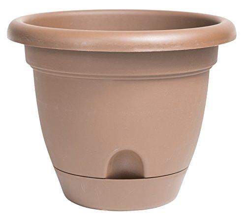 Bloem Lucca Self Watering Planter, 16″, Chocolate (LP1645)