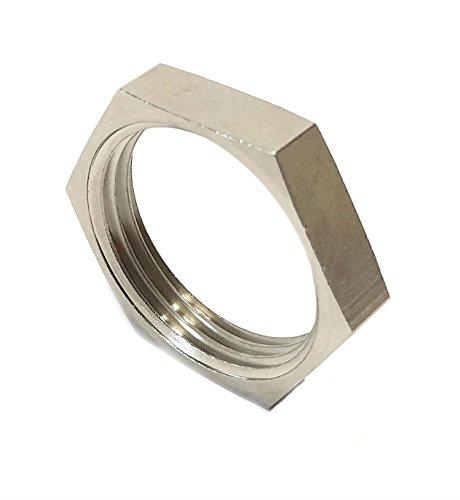 Inter Fittings Brass Nickel Pipe Locknut 1
