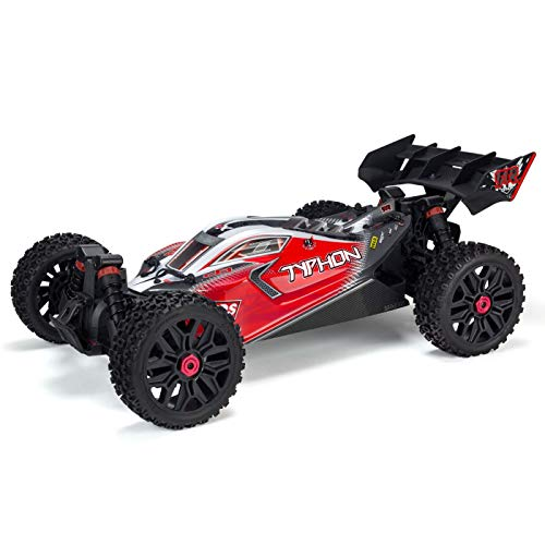 ARRMA Typhon 4X4 3S BLX Brushless 4WD RC Buggy RTR (LiPo Battery Required) with 2.4GHz Radio | 1:8 Scale (Red/Black)